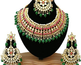 Traditional Necklace Set /Indian necklace | Wedding Jewelry Indian Jewelry |Indian Bridal Jewelry | Kundan Jewelry | Indian Wedding Jewelry