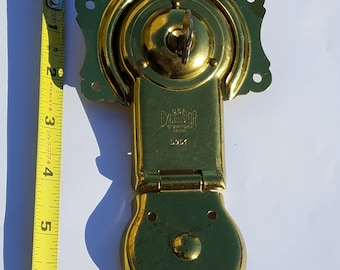 1900's Brass Plated Excelsior OEM Unused Antique Trunk Lock with Keys