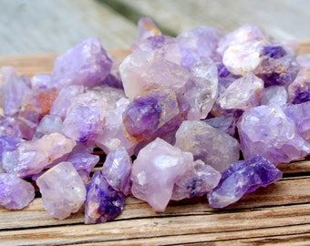 Raw Amethyst Crystals, Rock Tumbling, Hand Collected, Jewelry Making, Wire Wrapping, Rough Crystals