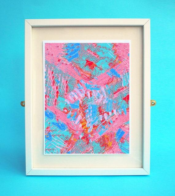 Wall Art Print Abstract Art Abstract Print Floral Print Etsy