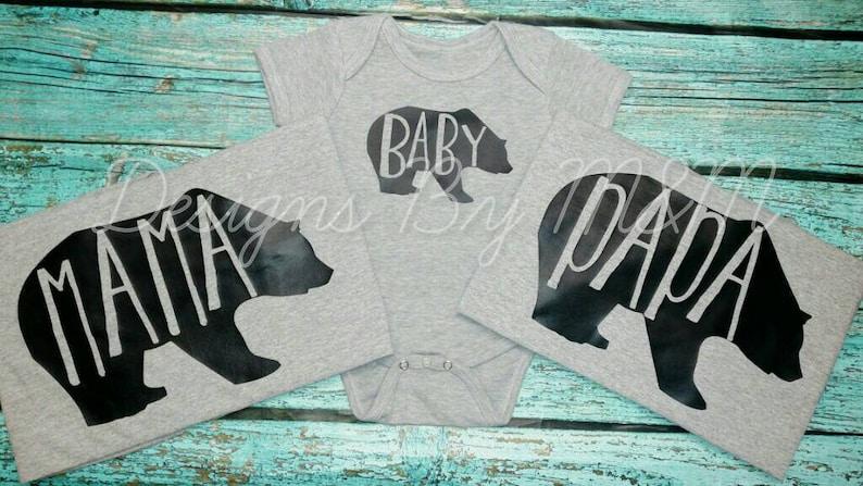 e091e0727 Baby Bear Mama Bear Papa Bear Baby Bear Shirt Mama Bear | Etsy
