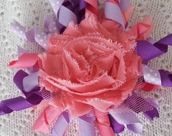 Pink Purple Hair Bows, Korker Hair Bows, Girl Hair Bows, Baby Hair Bows, Toddler Hair Bows, Hair Accessories, Hair Clips for Girls