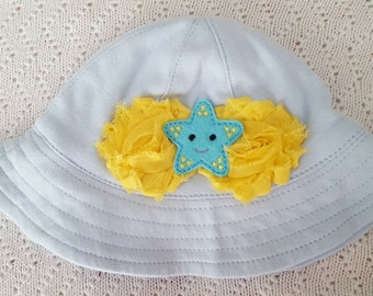 Blue Sun Hat, Star Sun Hat, Baby Sun Hat, Toddler Sun Hat, Girl Sun Hat, Boy Sun Hat, Sun Hats for Babies, Sun Hats for Girls