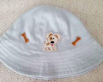 Blue Sun Hat, Dog Sun Hat, Baby Sun Hat, Toddler Sun Hat, Girl Sun Hat, Boy Sun Hat, Sun Hats for Babies, Sun Hats for Girls