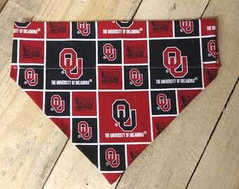University of Oklahoma dog bandana, Sooners dog bandana, sooners bandana, Oklahoma dog bandana, Sooner gifts, dog bandana