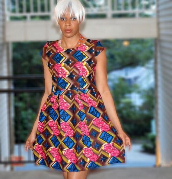 Ankara vestito vestito africano di stampa olandese cera  098fdaa773a