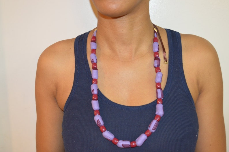 Ankara Necklace Tribal Jewelry African Shop,Women/'s Jewelry Beaded Necklace African Print Jewelry,Fabric Necklaces Bohemian Necklaces