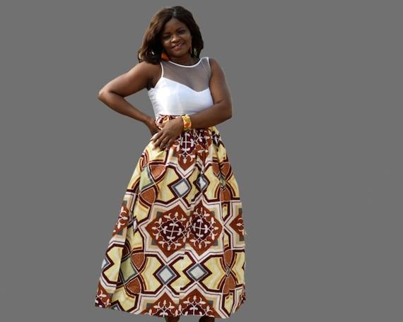 Gala Kleid / afrikanischen Druck Maxikleid / Ankara lange | Etsy