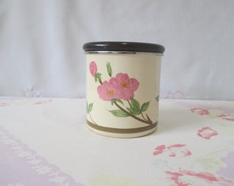 Franciscan Desert Rose Metal Canister with Wood Lid