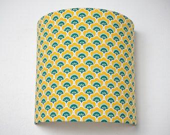 """Applique murale géométrique jaune """"Coquillages"""" 20cm"""