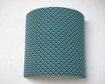 """Applique murale bleue 20cm """"Blue scales"""""""
