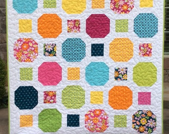 Key to My Heart in 7 Sizes-Easy Quilt Pattern-Quilt Pattern PDF-Layer Cake Pattern-Baby Quilt Pattern-Modern Quilt Pattern-Bed Quilt Pattern