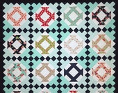 Ava 39 s Garden Quilt Pattern PDF in 3 Sizes Throw Twin Queen-Layer Cake Friendly-Easy Quilt Patterns by Myra Barnes of Busy Hands Quilts
