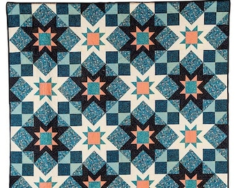 Adeline Quilt Pattern PRINTED in 4 Sizes-Throw Twin Queen King-Yardage Friendly-Easy Quilt Patterns by Myra Barnes of Busy Hands Quilts