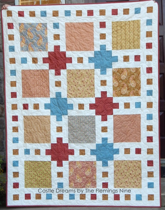 Castle Dreams Quilt Pattern Pdf In 6 Sizes From Baby To King Layer Cake Friendly Baby Quilt Patterns Myra Barnes Of Busy Hands Quilts