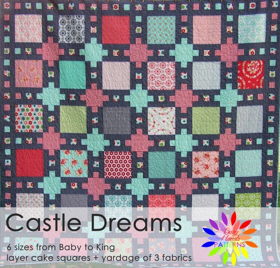 Castle Dreams Quilt Pattern Pdf In 6 Sizes From Baby To Etsy