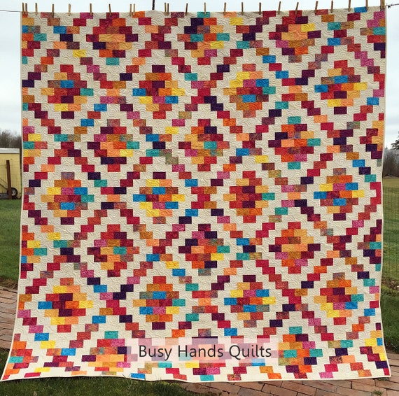 Brick Cottage Lane 2 Quilt Pattern Pdf In Quilt Pattern In 5 Sizes From Baby To King Easy Quilt Patterns Myra Barnes Of Busy Hands Quilts