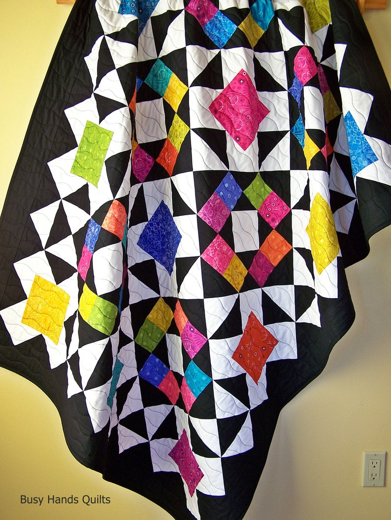 Outlook Quilt Pattern PDF in 6 Sizes from Baby to King-Layer Cake-Easy Quilt Patterns-Baby Quilt Patterns-Myra Barnes of Busy Hands Quilts