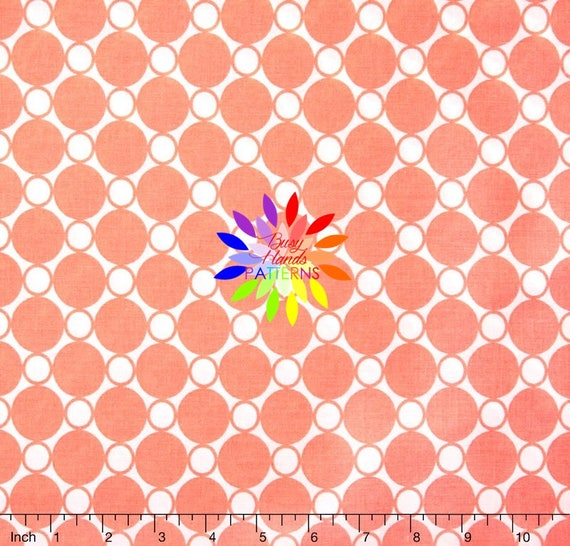 Robert Kaufman Spot On Circles Creamsicle 108 Wide Quilt Etsy