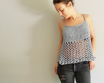 07847a1648c2 Knit Pattern for the Rustik Lace Tank Top - Easy Knitting Pattern