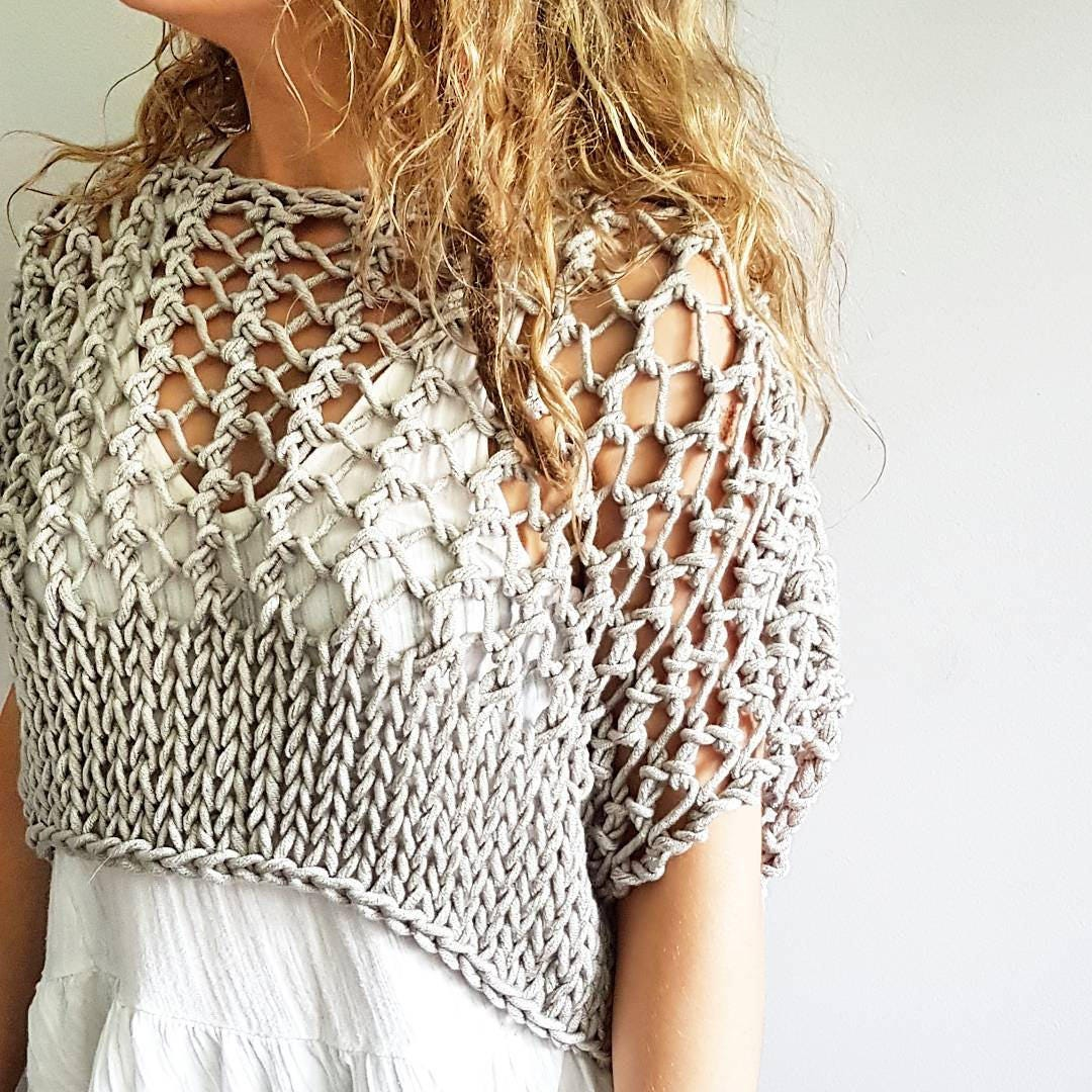 Knitting pattern for the Knotty Crop Top - Festival crop, knit crop ...
