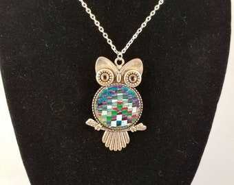 Quilted Owl Pendant