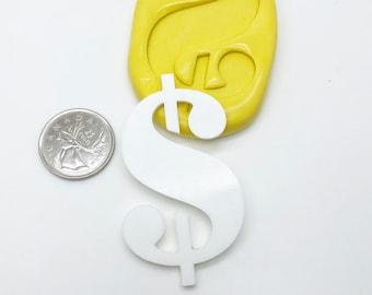 XL Dollar Sign Mold Silicone