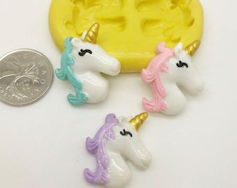 Unicorn Face Silicone Mold -z153