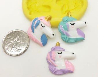 Unicorn Face Silicone Mold -z152