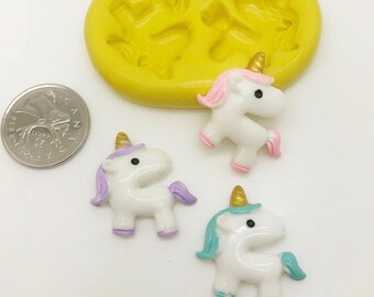Unicorn Face Silicone Mold -z154