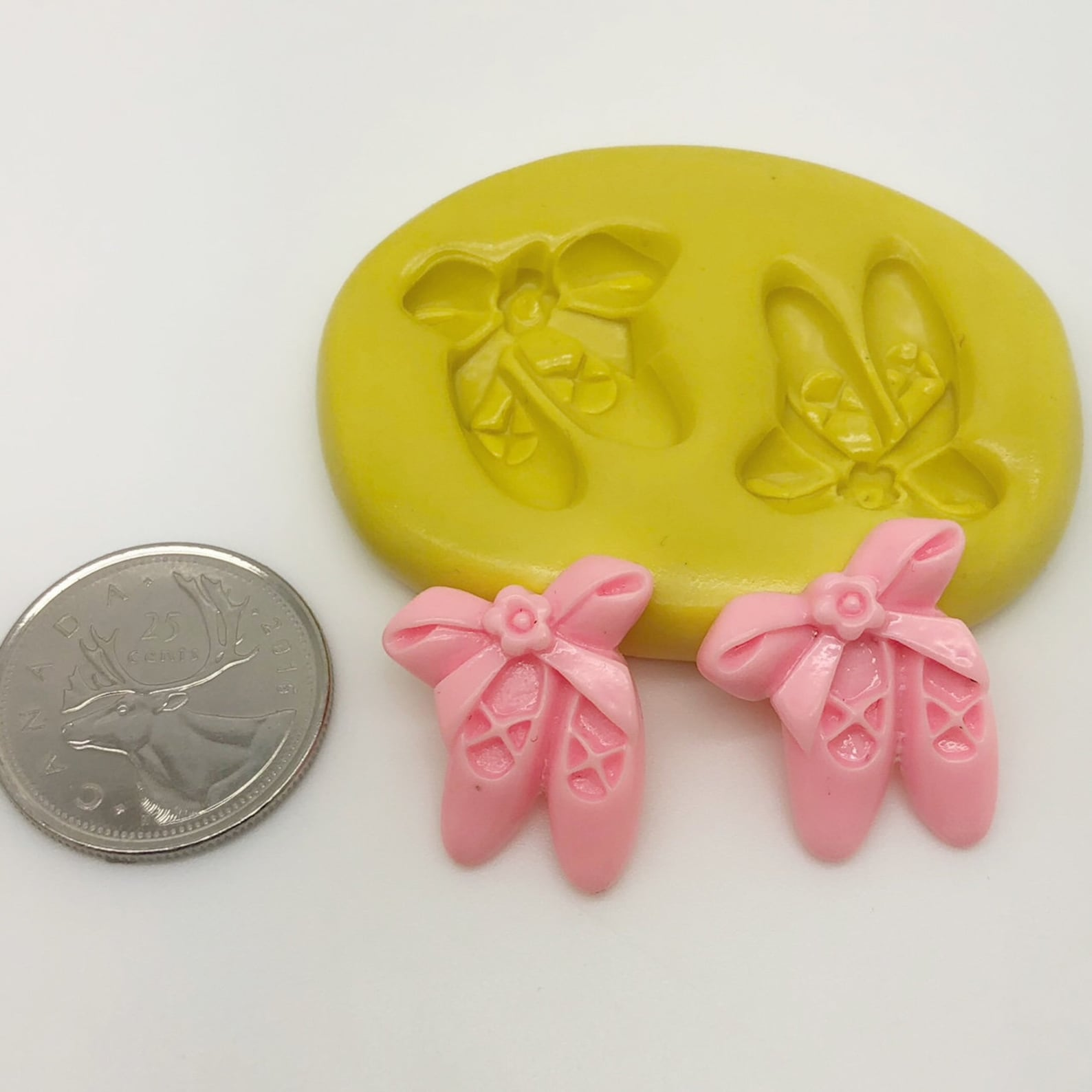 mini ballet shoes silicone mold