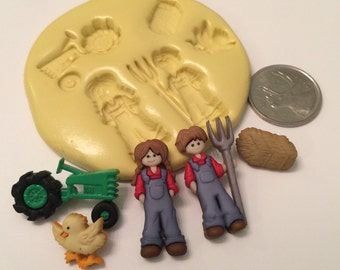 Farmer Tractor Silicone Mold set