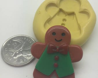 Ginger bread Man Silicone Mold christmas