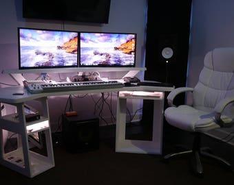 The Creator- Recording Studio Desk with Riser// Composer / Producer /Designer