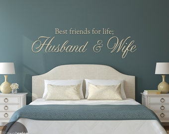 Best Friends For Life Husband And Wife Vinyl Wall Decal Sticker