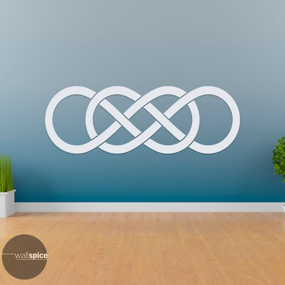 Double Infinity Symbol Vinyl Wall Decal Sticker Infinite Times Etsy