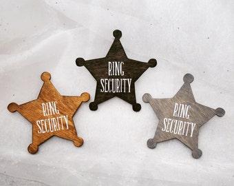 Ring Security Badge, Wedding Signs, Ring Bearer Sign, Ring Bearer Badge, Ring Bearer Gift, Fun Wedding Signs, Sheriff Badge, Wedding Sign