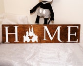 Disney Home Sign Wood, Disney Signs, Disney Decor, Disney Signs For Home, Disney Wall Decor, Disney Wall Art, Disney Housewarming Gift