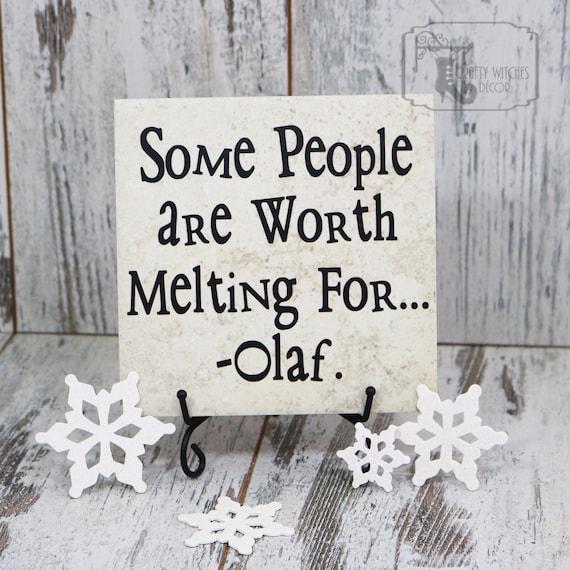 Manche Menschen Sind Wert Für Olaf Tile Zeichen Schmelzen Disney Ist Gefroren Weihnachts Geschenk Weihnachtsgeschenk Weihnachtsgeschenk