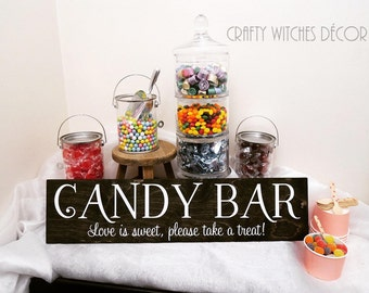 Candy Bar Wedding Sign, Wedding Signs, Candy Bar Wedding, Love Is Sweet, Please Take A Treat, Candy Bar Sign, Party Sign, Birthday Party
