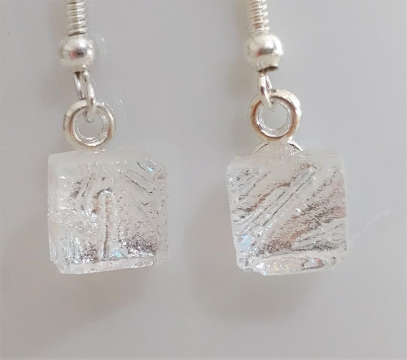 Wedding Party Jewelry Clear Dichroic Dangle Earrings Bridal Party Jewelry Dichroic Jewelry Dichroic Glass Dangle Earrings