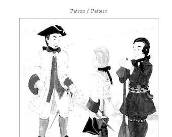 NFM1755 – Pattern for mid-18th century Men's Coats / Patron de justaucorps et de capot mi-18e siècle