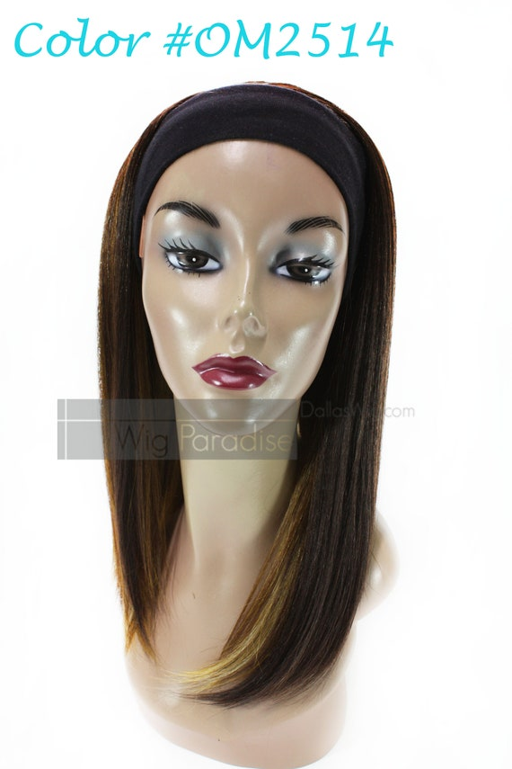 Easy 18 Straight Headband with Hair Attached Wig Heat  b193fc82c00