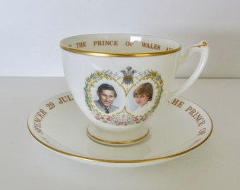 Prince Charles and Princess Diana Royal Wedding, Crown Staffordshire, Exclusive Limited Edition