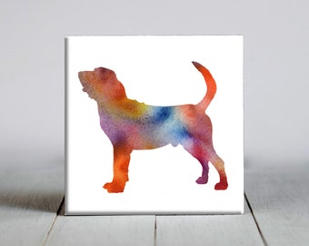 Bloodhound Decorative Tile Bloodhound Ceramic Tile Ceramic Tile Dog Lover Gift Unique Dog Gifts