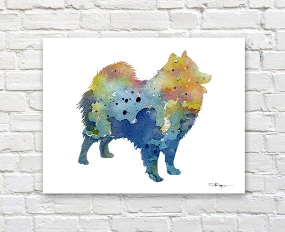 "Rock Climber Abstract Watercolor 11/"" x 14/"" Art Print by Artist DJ Rogers"