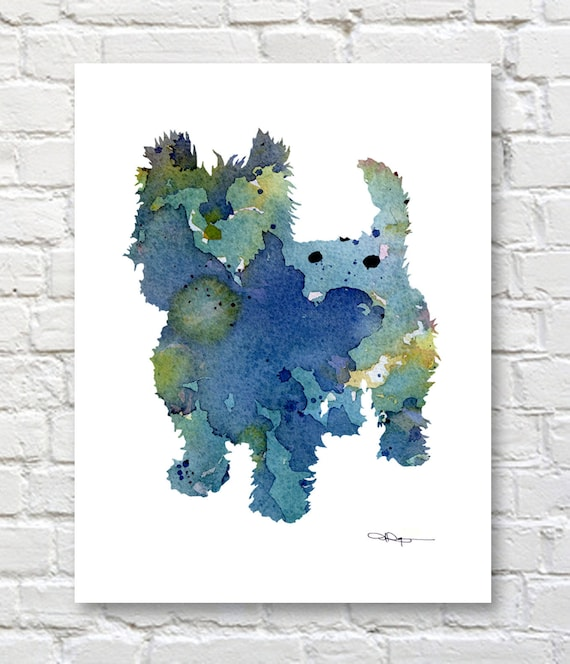 Clarinet Abstract Watercolor Painting Art Print by Artist DJ Rogers