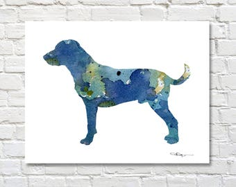 Harrier Watercolor - Abstract Painting - Dog - Wall Decor