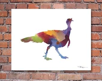 Wild Turkey - Art Print - Abstract Watercolor Painting - Wall Decor