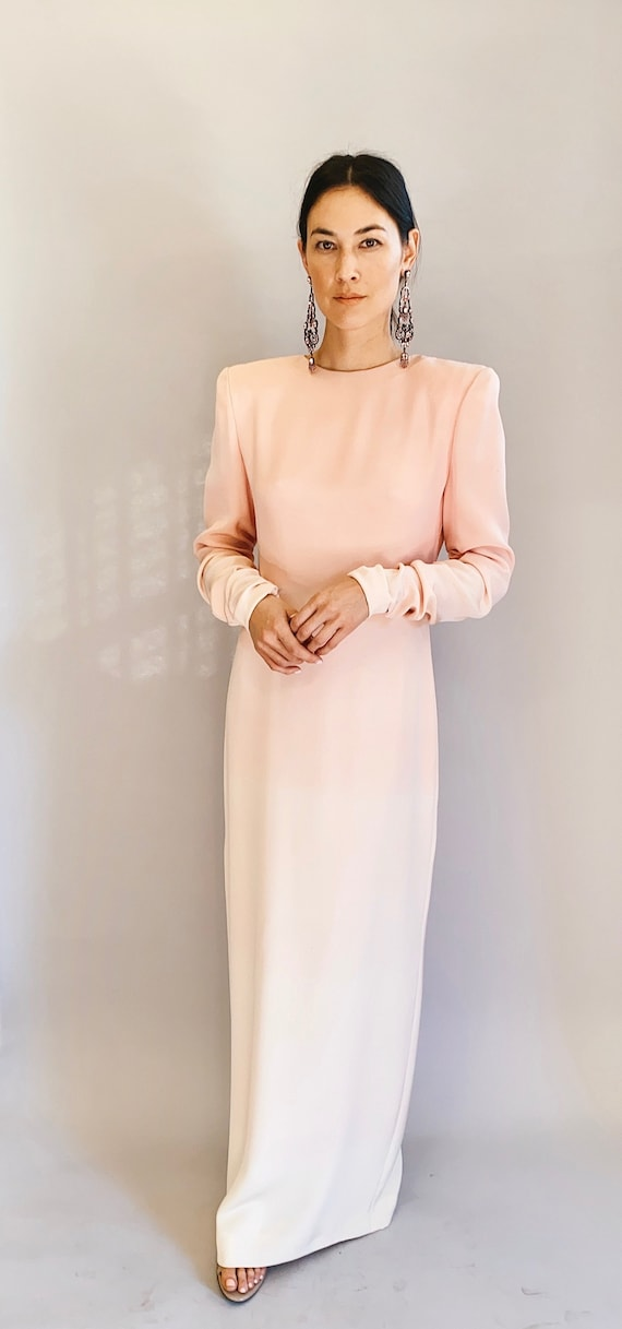 Bill Blass Pale Pink Ombre Dress/Gown